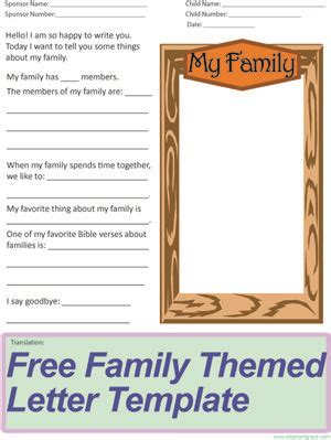 letter writing template atcompassion