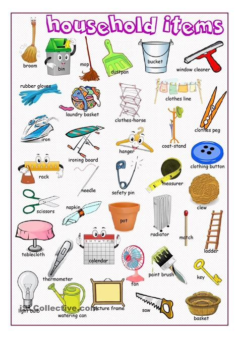 home items household items picture dictionary we offer free classes