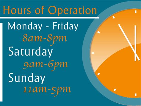hours of operation template hours of operation templates