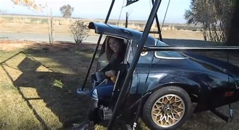 car swing awesome back of a trans am turned into a swing neatorama