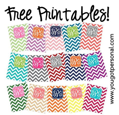 printable chevron binder covers diy free printable monogrammed chevron binder covers add
