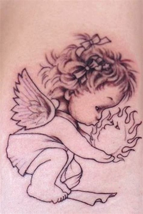 little angel tattoo designs baby designs combine