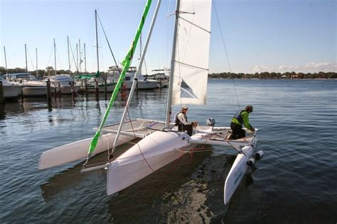 motorboat is to engine is as sailboat is to the fun boat company trimaran searail 19 segelboote for