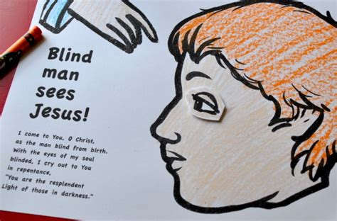 Jesus Heals The Blind Man Craft Sunday Of The Blind Man Craft Bible Jesus Miracles