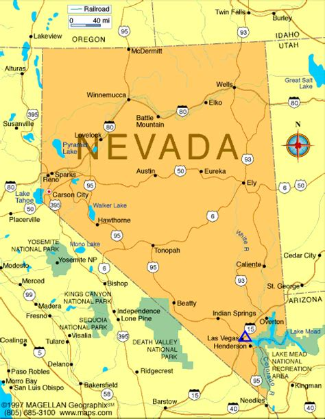 nevada state maps map of nevada cities printable map of nevada state printable