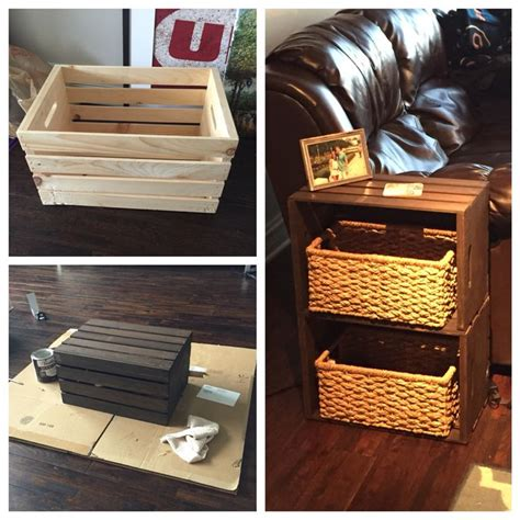 crate end table diy best 25 wooden crates ideas on rustic