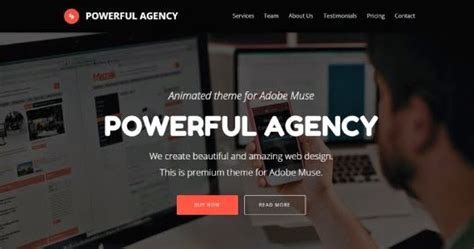 new themes download 2015 powerful agency animated adobe muse template 2015