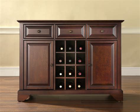 Sideboard Cabinets crosley lafayette buffet server sideboard cabinet with wine storage by oj commerce 419 00
