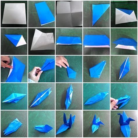 membuat origami burung bangau kenangan burung bangau pesantren media