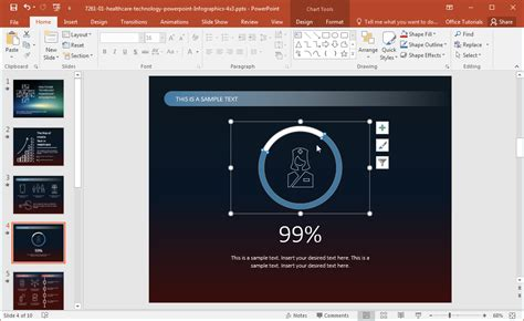 edit a powerpoint template healthcare technology infographics template for powerpoint