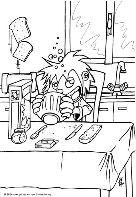 breakfast coloring page with peter coloring pages