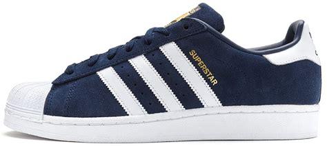 Sepatu Sneaker Adidas Superstar White List Nevy adidas originals superstar suede trainers in collegiate