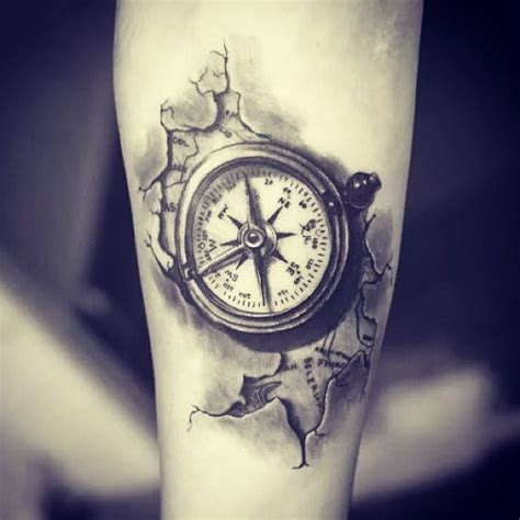 broken compass tattoo amazing compass ideas best 2015 designs