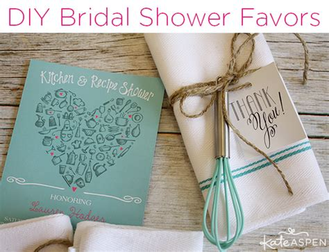 bridal shower decorations diy diy bridal shower whisk tea towel favors kate aspen