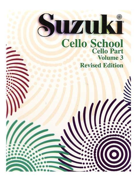 Suzuki Violin School Vol 3 Cd Revised Edition suzuki cello school volume 3 revised edition cello part cello instrumental tutor tuition
