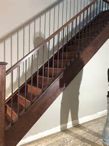 Box Stairs Design Box Stairs Renovation New Railing New Steps New Posts Reveneering Stringers Installation In