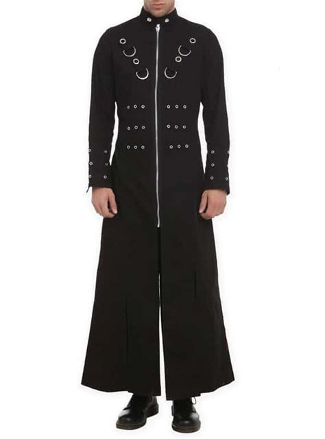 gothic industrial steam punk coats jackets and trench coats hellraiser goth punk industrial vire jacket trench coat