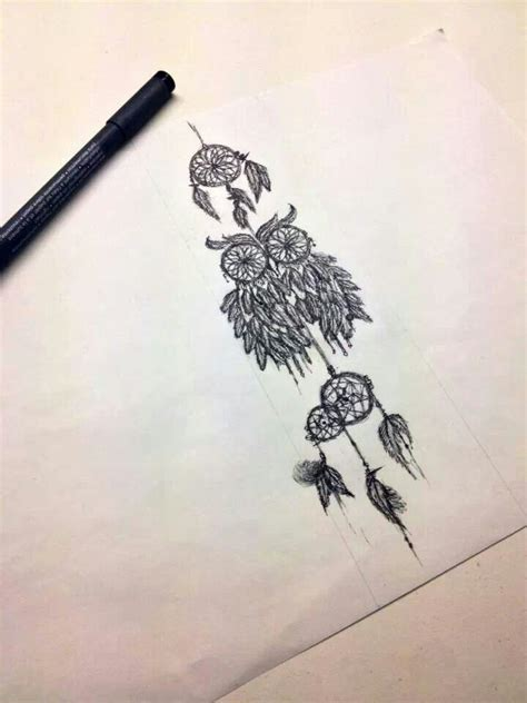 owl dreamcatcher tattoo dreamcatcher owl ink n