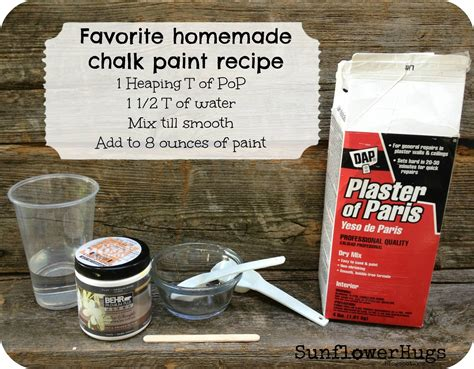 chalk paint diy recipe sunflowerhugs my version of diy chalk paint