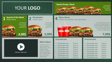 digital menu board templates digital menu board powerpoint design presentationpoint