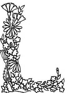 l color n 26 kleurplaten alfabet bloemen