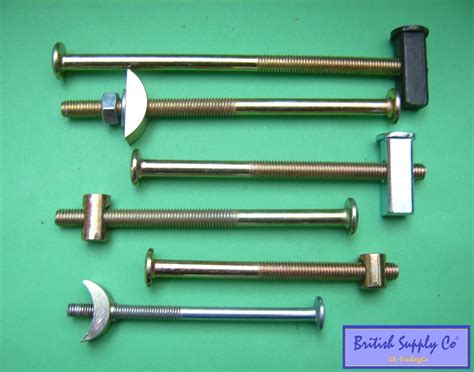 bunk bed bolts bed bolts heavy duty m6 m8 replacement fixing half moon crescent block metal
