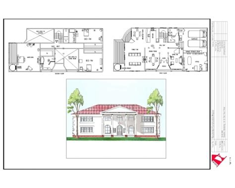 house plan section and elevation residential building plan section elevation house plan
