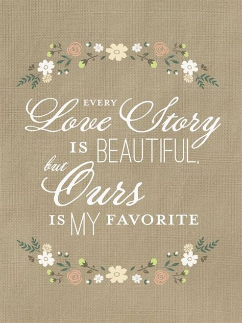 love story quote printable wedding inspiration