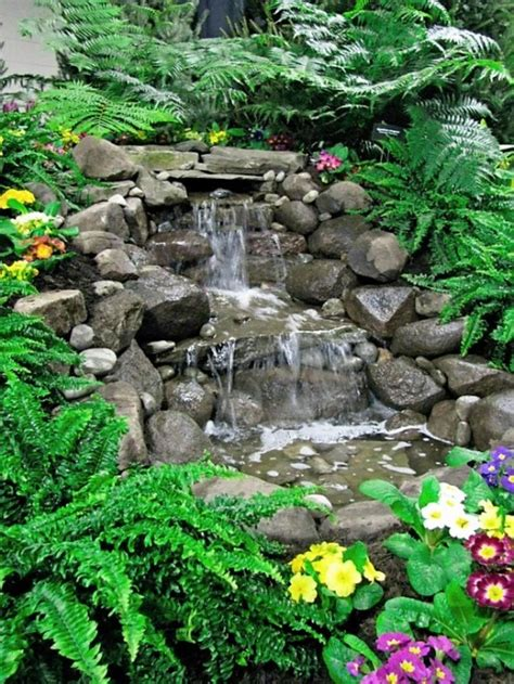 small waterfalls backyard 75 relaxing garden and backyard waterfalls digsdigs