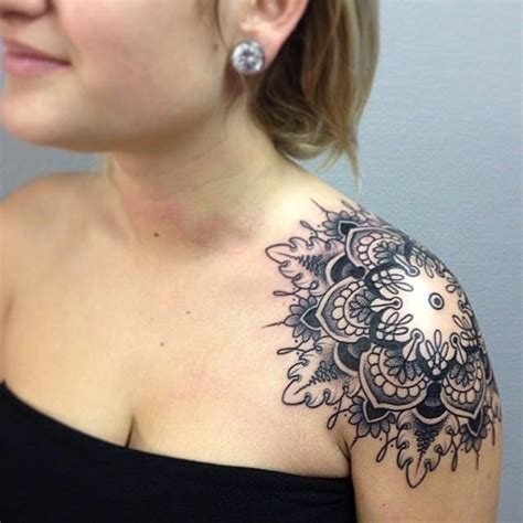 mandala shoulder tattoo mandala shoulder designs ideas and meaning