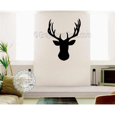 stags head home decor stags head wall sticker vinyl wal mount home mural decor