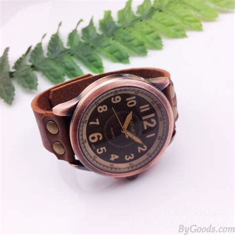 Handmade Leather Watches - handmade multi scale retro leather retro watches
