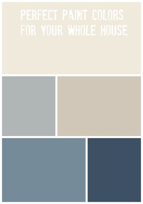 color home whole house paint palette of home