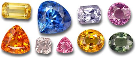 different colors of sapphire blue sapphire gemstone