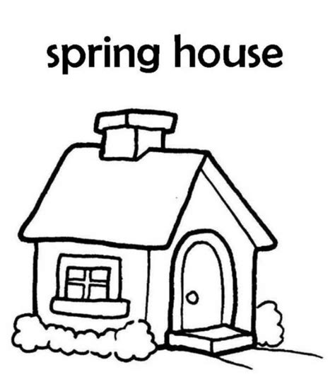 picture of a cartoon house kids coloring europe travel cartoon house coloring pages 546588