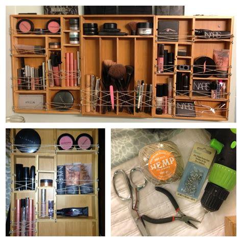 diy drawer organizer for makeup diy wall makeup organizer you ll need enough bamboo
