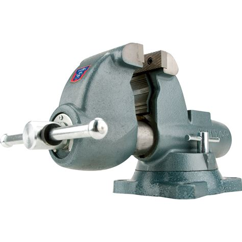 wilton bench vice wilton pipe and bench vise 6in jaw width swivel base