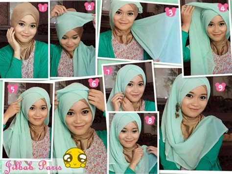 tutorial hijab kantong pesta tutorial hijab pesta simple just trendy girls
