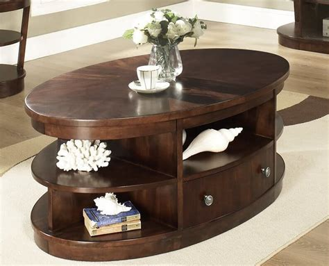 Oval Storage Coffee Table 20 Top Wooden Oval Coffee Tables