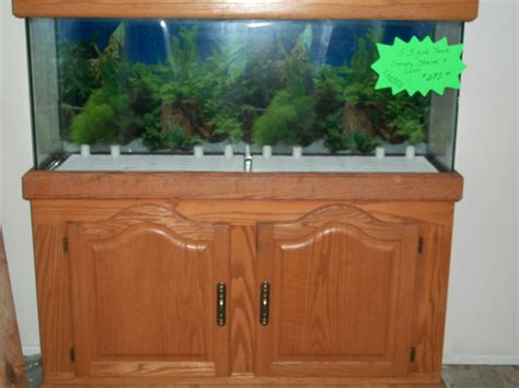 55 Gallon Stand 55 gallon aquarium with oak stand and canopy in