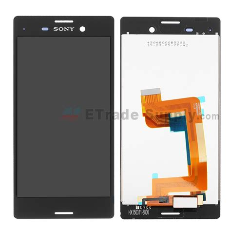 Hp Sony Ericson M4 Aqua sony xperia m4 aqua lcd screen and digitizer assembly black etrade supply
