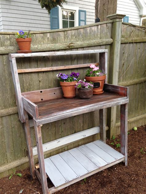 reclaimed wood potting bench reclaimed wood potting bench