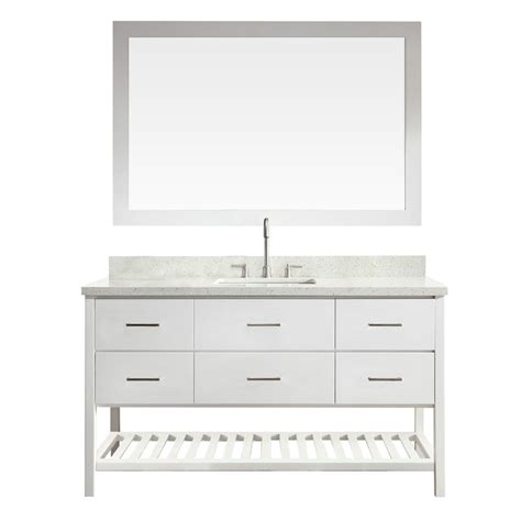 ariel shakespeare 61 in vanity in white with quartz
