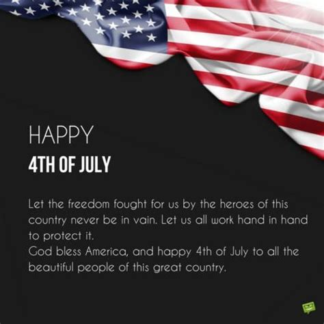 4th Of July Birthday Quotes by Birthday Wish For On Card With Drawings Of