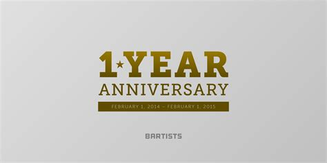 1 Year Anniversary For - bartists 1 year anniversary bartists e v
