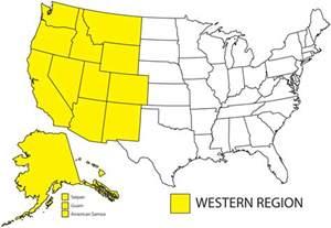 map of the west region of the united states western region apwu