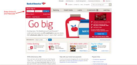 bank of america login in bank of america banking login cc bank