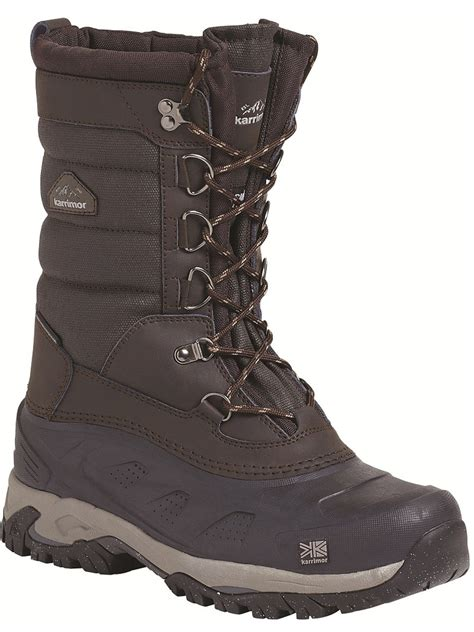 snow mens boots mens karrimor bering snow boot brown snow boots outdoor