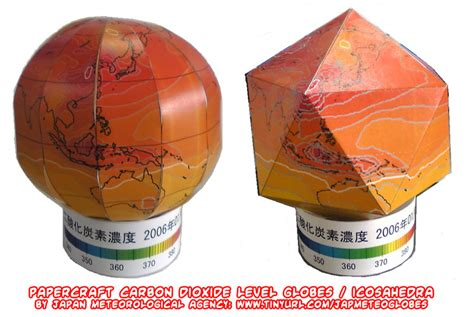 Papercraft Globe - ninjatoes papercraft weblog papercraft co2 level globes