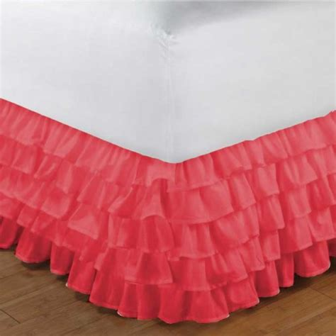 coral bed skirt quot coral bedskirt and window valance quot